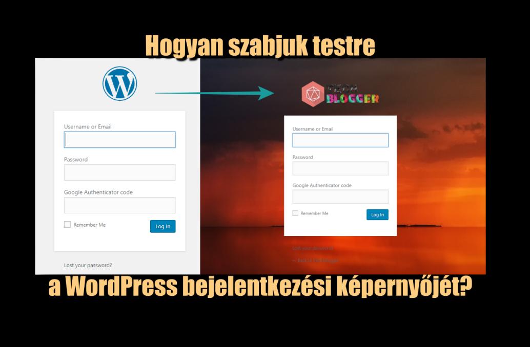 Hogyan szabjuk testre a WordPress bejelentkezési képernyőjét?