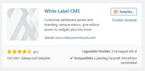 White Label CMS telepítése techblogger.hu