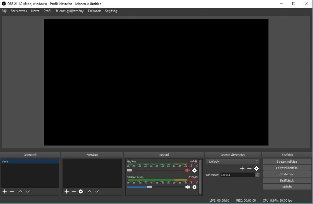 OBS Studio streamelő program