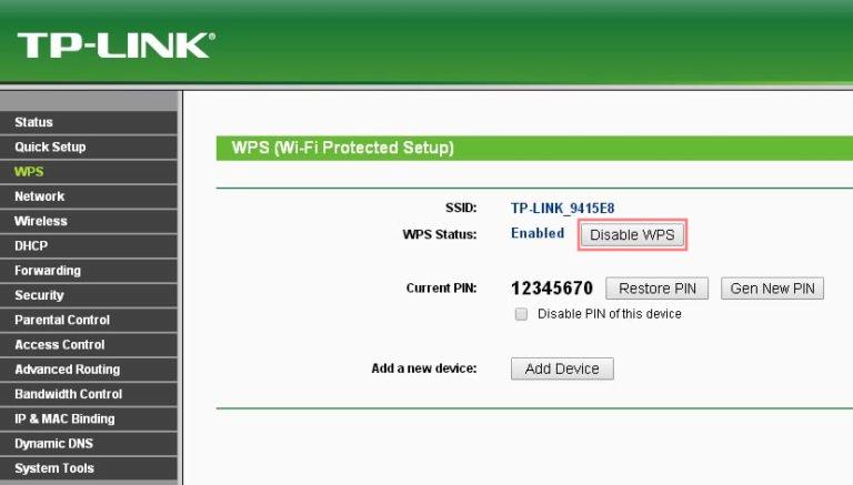 Hogyan védd az otthoni hálózatod? WPS kikapcsolása