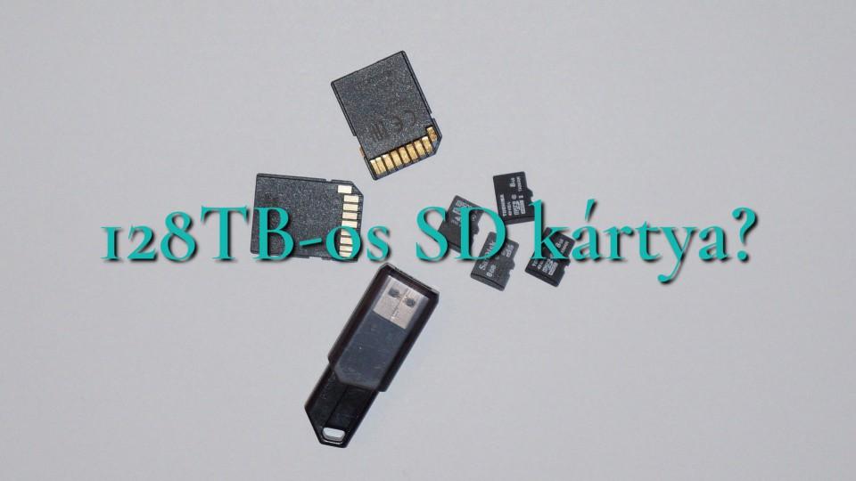 Nemsokára jön a 128TB-os SD kártya?