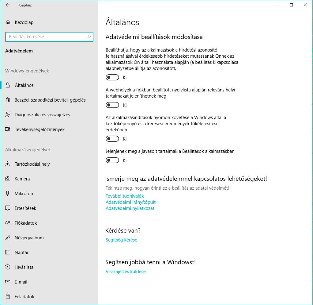Hogyan védd az adataidat Windows 10-ben? Telepítés közben adatgyűjtés kikapcsolása