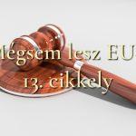 Mégsem lesz EU-s 13 cikkely
