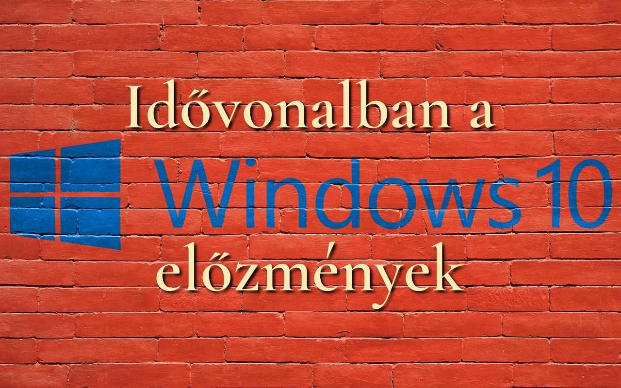 Windows idővonalban az előzmények