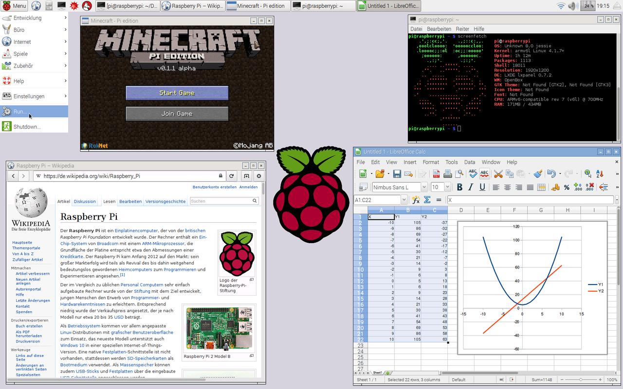 Raspberry Pi operációs rendszere a Raspbian Asztali Verzió Wikipedia