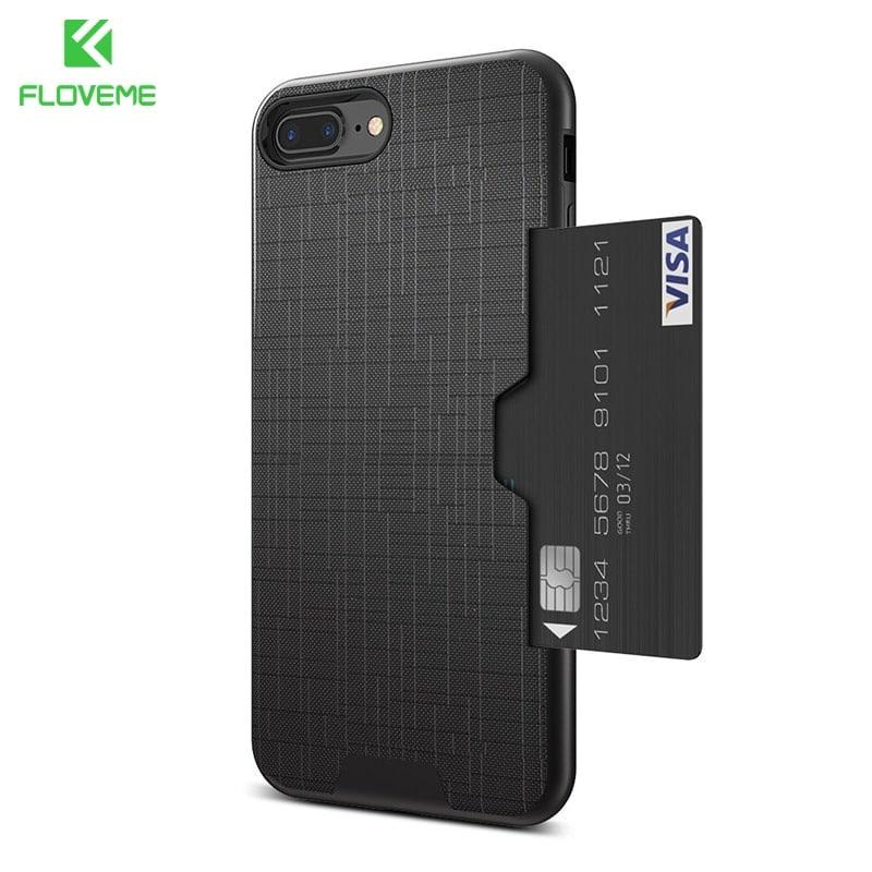 5 iPhone pénztárca tok FLOVEME egyszerű szilikon