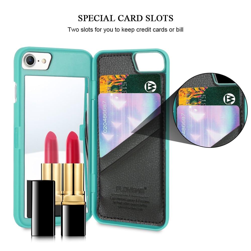 5 iPhone pénztárca tok FLOVEME tükrös