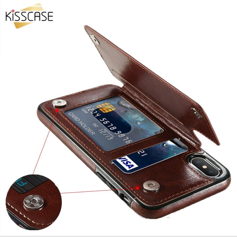 5 iPhone pénztárca tok KISSCASE oldalra nyíló elegáns