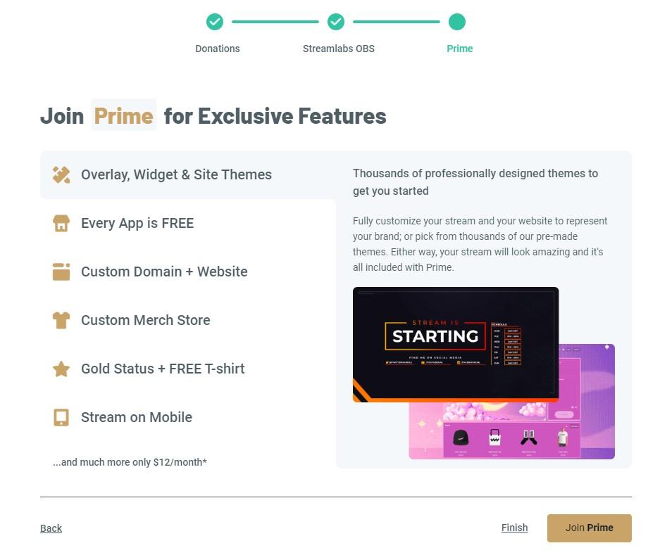 Streamlabs Prime előfizetése
