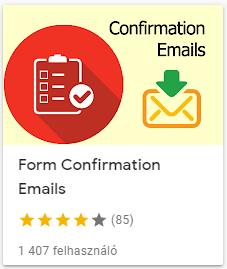 form confirmation emails megerősítő email küldése