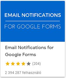 email notifications for google forms - válaszok az email fiókban