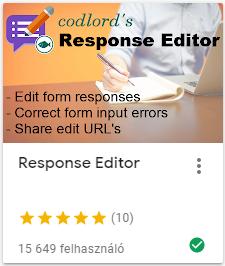 response editor szerkesztés utólag