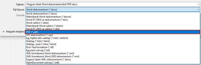 Docból PDF-be egyszerűen