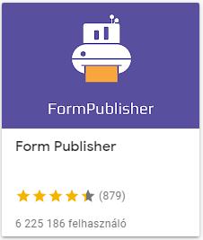 form publisher reportok készítése azonnal