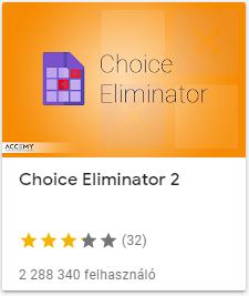 Choice Eliminator foglalások, időpontok kikapcsolása