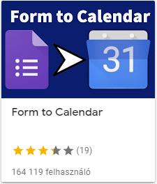 form to calendar időpontfoglaló rendszer, azonnal