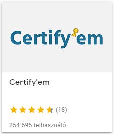 certify'em oklevél készítése