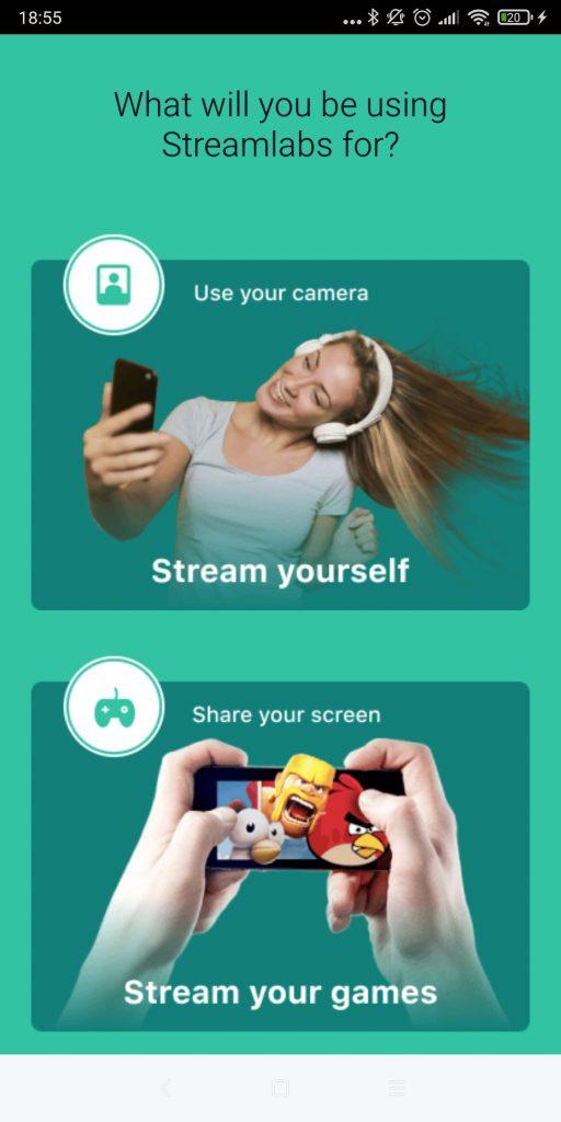 Játék vagy kamera streamelés mobilról