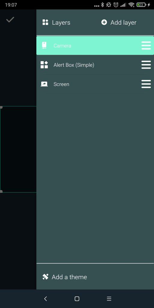 streamlabs jelenetek, layerek beállítása