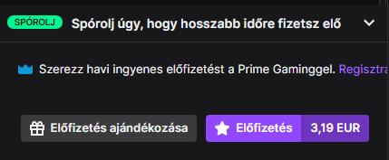 Twitch előfizetés