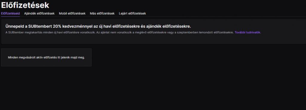 Twitch előfizetések lemondása