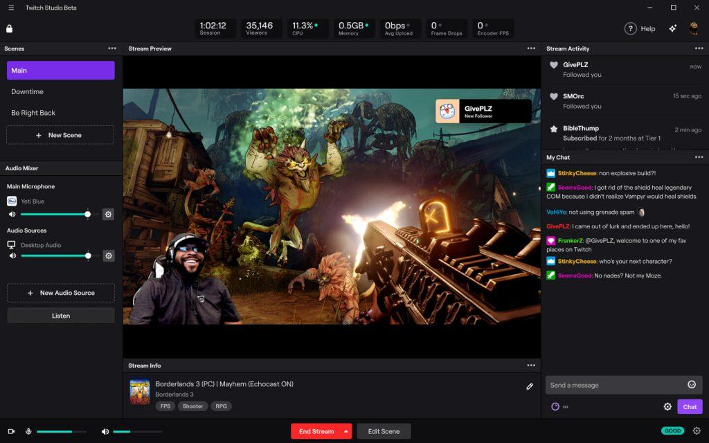 Twitch Studio - stream program