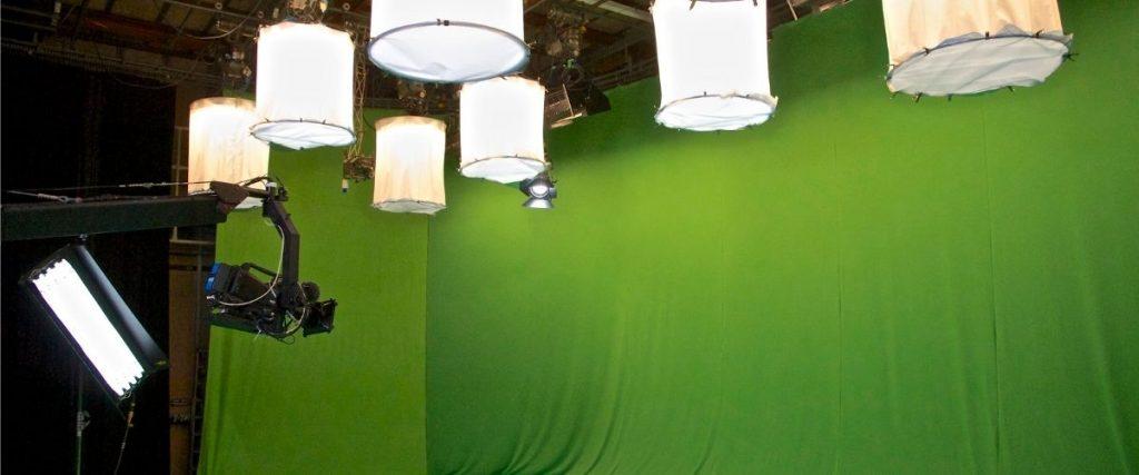 Zöld háttér, stúdió