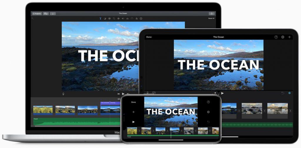 Apple iMovie videóvágó program