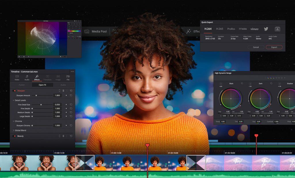 Davinci Resolve professzionális videóvágó és színkezelő program