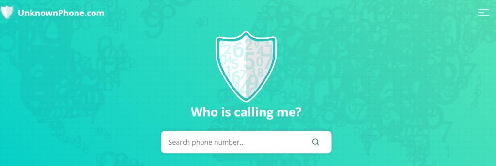 UnknownPhone telefonszám kereső oldal